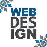 Webdesign-Blau Grey Square Elements Stockfotos