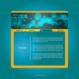 Webdesign blu   Immagine Stock
