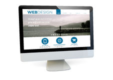 Webdesign  computer Royalty Free Stock Photography