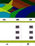 Webdesign con los elementos materiales del diseño Fotografía de archivo libre de regalías