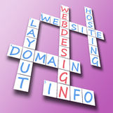 Webdesign on crossword Royalty Free Stock Photo