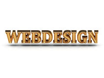WEBDESIGN 3d inscription large golden letter Stock Photo
