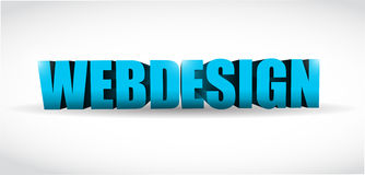 Webdesign 3d text illustration design Stock Images