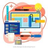 Webdesign et concept de développement Illustration lumineuse à la mode de vecteur d'ameoba image stock