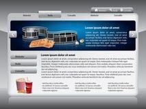 webdesign för filmmalltema Royaltyfri Illustrationer