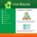 Webdesign för plats om Irland royaltyfri illustrationer