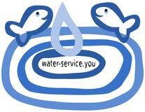 Webdesign für die Firmen, die mit Wasser oder Wassertieren arbeiten Stockfoto