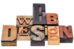 Webdesign in gemischter hölzerner Art Stockfotos