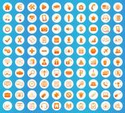 Webdesign icons round set Stock Photo