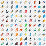 100 webdesign icons set, isometric 3d style Stock Photography
