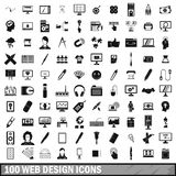 100 webdesign icons set, simple style Royalty Free Stock Images