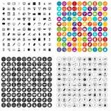 100 webdesign icons set vector variant. 100 webdesign icons set vector in 4 variant for any web design isolated on white Royalty Free Stock Photos