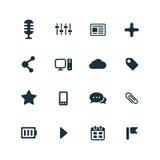 Webdesign icons set Stock Photo