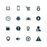 Webdesign icons set Royalty Free Stock Photos