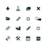 Webdesign icons set Stock Photos