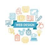 Webdesign-Ikonen-Konzept Vektor Lizenzfreies Stockfoto
