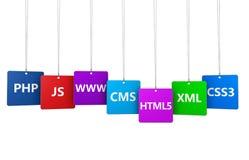 Webdesign-Internet-Konzept Lizenzfreie Stockbilder