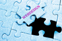 Webdesign puzzle Stock Photo