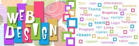 Webdesign-quadratisches buntes Lizenzfreie Stockbilder