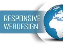 Webdesign responsivo foto de archivo libre de regalías