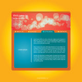 Webdesign rosso-arancione   Immagine Stock