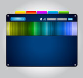 WebDesign Schablone mit ursprünglichen Auslegungelementen Lizenzfreies Stockbild