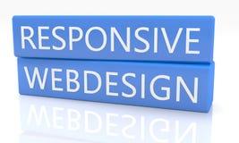 Webdesign sensible Photographie stock