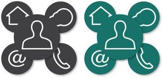 Webdesign symboler Royaltyfri Foto