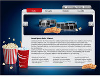 Webdesign template - Movie theme Royalty Free Stock Image
