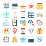 Webdesign-und Entwicklungs-Vektor-Ikonen 1 Lizenzfreies Stockfoto