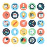 Webdesign-und Entwicklungs-Vektor-Illustrationen 3 Stockfotografie