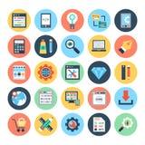 Webdesign-und Entwicklungs-Vektor-Illustrationen 2 Lizenzfreie Stockfotos