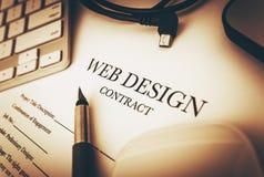 Webdesign-Vertrag Lizenzfreie Stockfotos