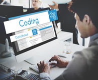 Webdesign-Website-Kodierungs-Konzept Stockbild