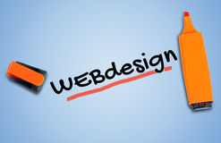 Webdesign word Royalty Free Stock Images