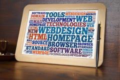 Webdesign word cloud Stock Photo