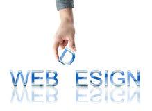 Webdesign Wort Lizenzfreies Stockbild