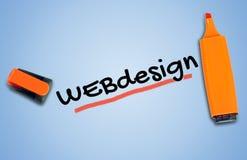 Webdesign-Wort Lizenzfreie Stockbilder