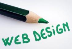 Webdesign-Wort Lizenzfreie Stockfotos