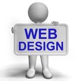 Webdesign-Zeichen zeigt Kreativitäts-und Netz-Konzepte Lizenzfreies Stockbild