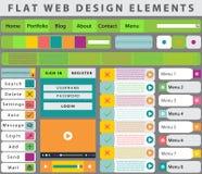 Webdesignelemente, Knöpfe, Ikonen Lizenzfreie Stockfotos