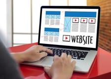 Webdesignentwurf-Skizzenzeichnung Software-Medien WWW und Grafik Stockbild