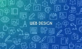 Webdesignfahne Lizenzfreies Stockfoto