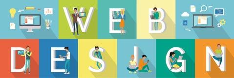 Webdesignfahne Stockfotos