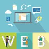 Webdesignfahne Stockfotografie