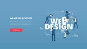 Webdesignheldfahne Lizenzfreie Stockfotografie