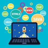 Webdesignkodierung vektor abbildung
