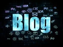 Webdesignkonzept: Blog auf Digital-Hintergrund Lizenzfreie Stockfotos
