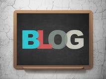 Webdesignkonzept: Blog auf Schulbehörde Lizenzfreies Stockfoto