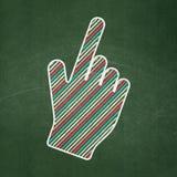 Webdesignkonzept: Mauscursor auf Tafelhintergrund Stockfoto